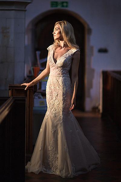white rose bridal dresses