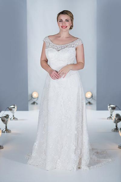 white rose graceful wedding dresses